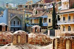 Old Tbilisi, sulfur baths