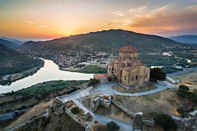 Mtskheta view from Jvari Monastery