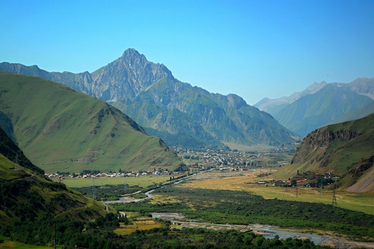 Stephantsminda (Kazbegi) view