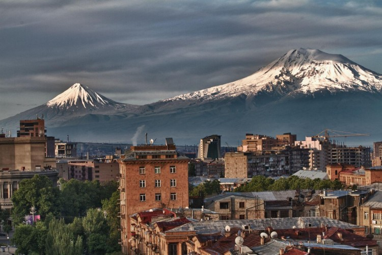 Ararat view from Yerevan