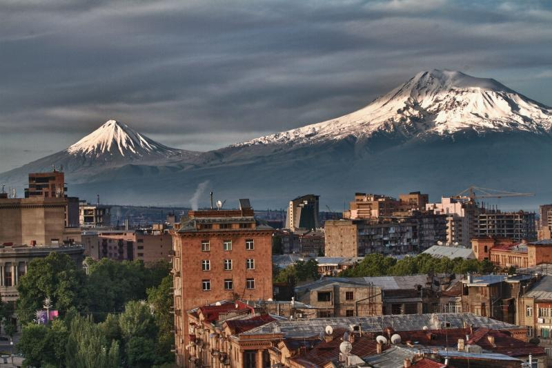 Ararat view from Yerevan